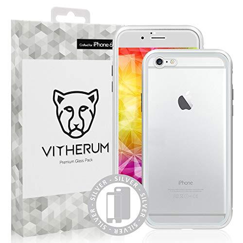 VITHERUM Silver - Pack de Cristal (Vidrio Templado Curvado Frontal + Carcasa...