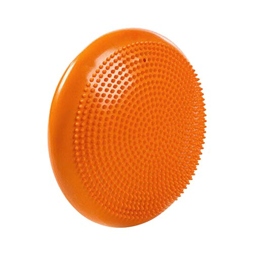 LOVEYue 33cm Yoga Gym Inflatable Stability Wobble Balance Massage Pad Mat Disc Cushion,Make You Have a Ideal Body Orange 900g