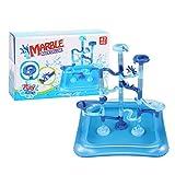Niktule Carrera de mármol para niños de 4 a 8 años, bolas de laberinto de bricolaje, juguetes interactivos para padres e hijos, sin rebabas, guía