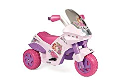 The Peg Perego Flower Princess Electric motortrike is a fun and exciting ride on toy for your kids Made for easy and safe riding, this 6V electric trike has 2 wheel drive, an accelerator/brake pedal 9km/h With a LED light up electronic dash button, m...