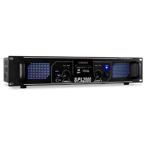 Skytec SPL-2000 Amplificador HiFi PA LED 2000W USB SD MP3