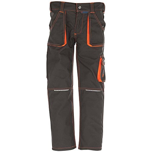 Planam Junior Bundhose,mehrfarbig (oliv/orange), Gr. 134/140