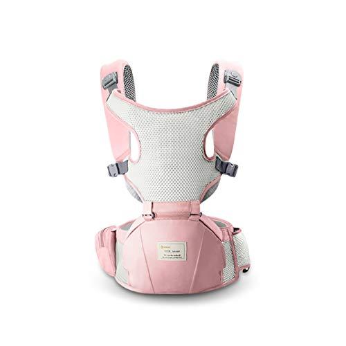 SONARIN 3 en 1 Respirant porte-bébé Hipseat,Baby Carrier,Coupe-vent et Protection Solaire, Multifonction,Ergonomique,Taille Libre,Facile maman,100% GARANTIE et LIVRAISON GRATUITE, Idéal Cadeau(Rose)