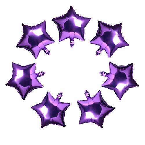 10 Pcs Star-Shaped Balloon 18 Inch Purple Foil Balloon Mylar Balloon Happy Birthday Balloons