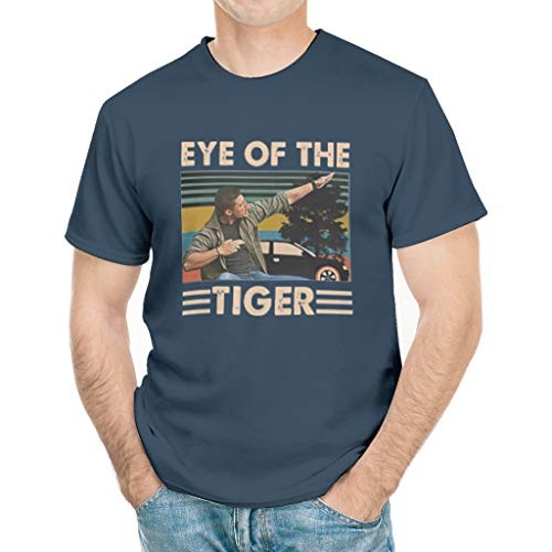 Men's Eye of The Tiger T-Shirt Dean-Winchester T-Shirt white6 x-Large Dark Blue