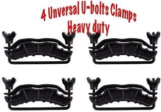 Topline Autopart 4 U-BOLTS ROOF BASKET LUGGAGE RACK CLAMPS STEEL HEAVY DUTY NEW