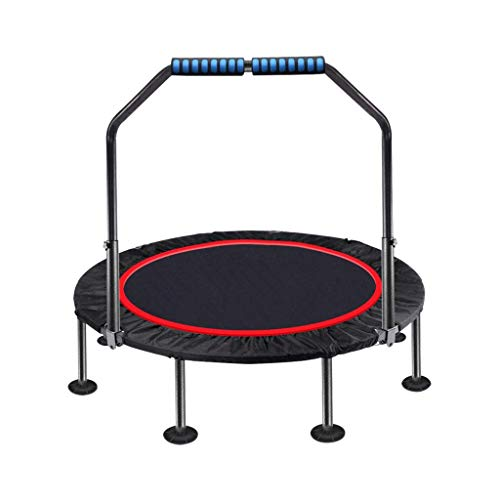 TBTBGXQ Fitness Trampoline For Adults With Handle 35 Inch Trampolines Rebounder Exercise Bounce Small Trampette For Kids Foldable Trampline Home Gym Equipment Indoor/Garden Workout Max Bearing