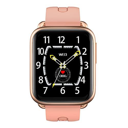 Relojes inteligentes para hombres y mujeres, pantalla táctil completa de 1,69 ', podómetro resistente al agua IP67, reloj con monitor de sueño, reloj inteligente para teléfonos Android y teléfonos i