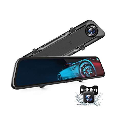 Flashing Dash CAM 4K Recorder de conducción Coche DVR Pantalla táctil GPS Vista Trasera Cámara Dastrea Control de Voz 24h Monitor de estacionamiento (Color : 128GB, Size : 10MQ 2.5Km)
