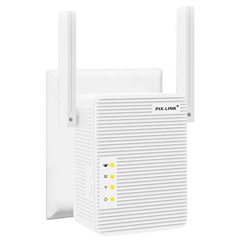 XENI WLAN Repeater, WLAN Verstärker 300Mbit/s 2,4GHz WiFi Range Extender, Fast-Ethernet Port, WPS Taste, EU Stecker, Mini WLAN Verstaerker Receiver Kompatibel mit Allen WLAN Geräte