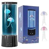 Lampara Medusa Lámpara de lava LED Fantasy Qualle Aquarium con Mando a Distancia 17 Cambio de Color, lamparas de medusas para decoración para el hogar u oficina para Niños Hombres Mujeres