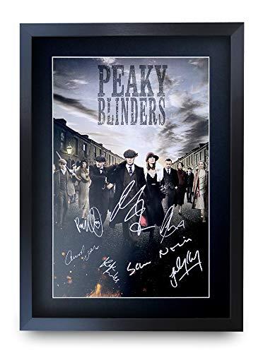 HWC Trading Peaky Blinders A3 Gerahmte Signiert Gedruckt Autogramme Bild Druck-Fotoanzeige Geschenk Für Tv-Show-Fans