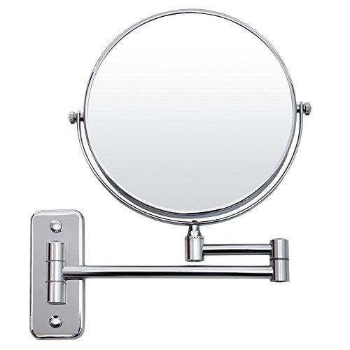 SONGMICS - Espejo de Aumento de Pared - 5X Ampliación, 8' Pulgadas cosmética Afeitar Espejos para baño BBM513