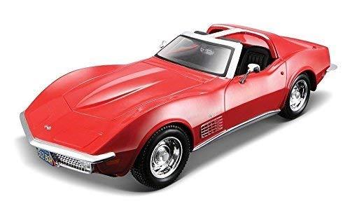 Maisto New 1:24 Display Special Edition - Candy RED 1970 Chevrolet Corvette Stingray Diecast Model Car