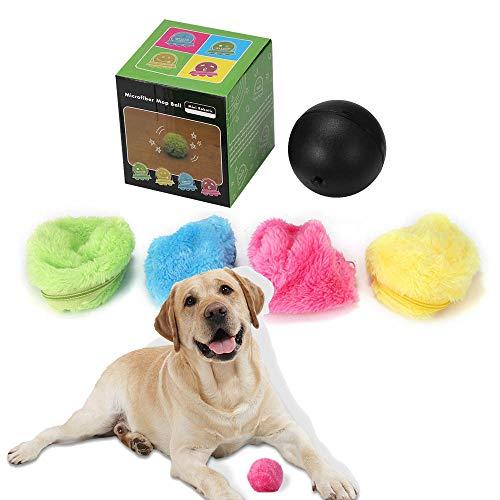 OurLeeme Magic Roller Ball, Bola de Juguete eléctrico para Mascotas Ejercicio de rasguño Bola de trapeador para Perro Gato Mascota