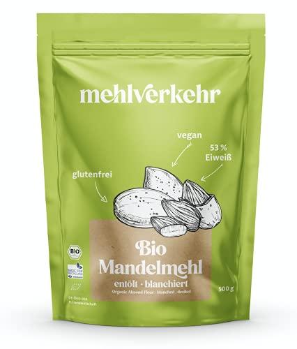 Mehlverkehr Farine d'amande Bio Low Carb | déshuilée et sans additifs | 500g