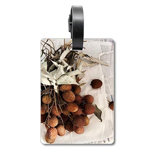 Etiqueta de identificación para Maleta de Frutas Tropicales Frescas Litchi
