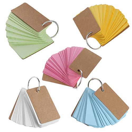 running Kraftpapier Binder Ring Easy Flip Karteikarten Study Memo Pads DIY Briefpapier