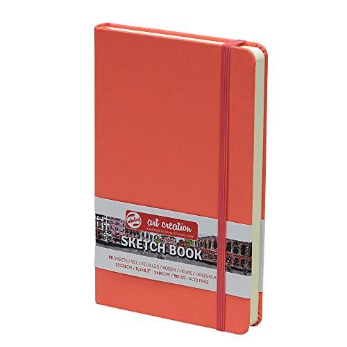 Sketchbook Royal Talens Art Creation Hardcover Skizzenbuch 80 Blatt 140gsm 13x21cm - Coral Red Cover