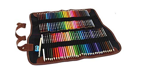 Professional and Advanced Colored Pencil for Art, with 72 Colors and Packed in Canvas Bag, Suitable for Painting, Sketching and Coloring Books,is The Best Gift for Kids,Teenagers and Adults.