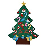 haia7k4k Árbol de Navidad de fieltro con decoraciones para colgar en la pared o para puerta