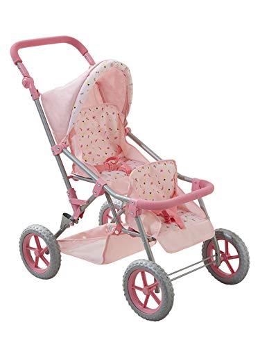 Vertbaudet Geschwister-Buggy für Puppen rosa Bedruckt ONE Size