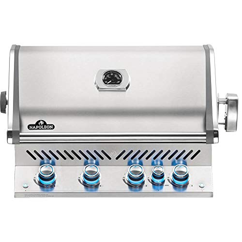 Napoleon BIPRO500RBPSS-3 Built-in Prestige PRO 500 RB Propane Gas Grill Head, sq.in. + Infrared Infrared Rear Burner, Stainless Steel