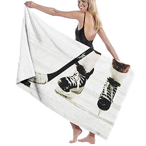 Dress rei Mikrofaser-Strandtuch mit Eishockey-Muster, bedrucktes Badetuch, leicht, großes Strandtuch, ultra-saugfähiges Badetuch, Badetuch für Strand/Zuhause/Spa/Pool/Fitnessstudio/Reisen