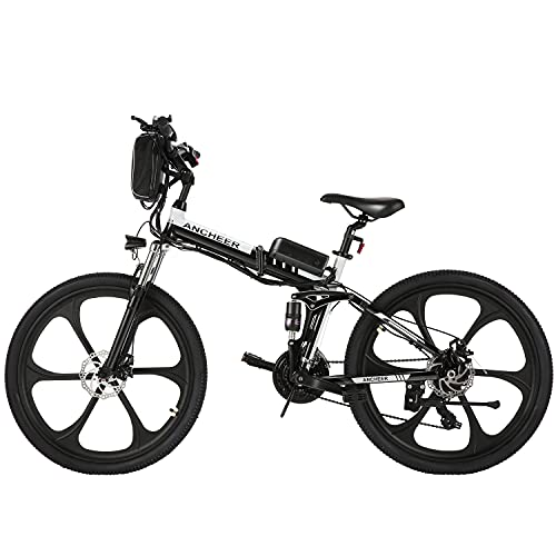 ANCHEER Bicicleta Electrica 36V 8Ah, Bicicleta Eléctrica Plegable de 26 Pulgadas, Motor...