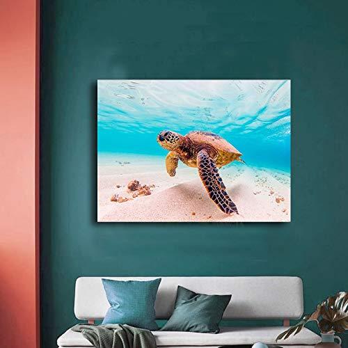 Puzzle 1000 Piezas Animal Tortuga Marina en Juguetes y Juegos Gran Ocio vacacional, Juegos interactivos familiares50x75cm(20x30inch)