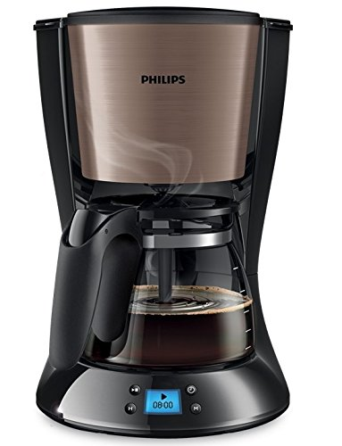 Philips HD7459Filterkaffeemaschine (Brossé, programmierbar, swirl champagne/inox, 10bis15Tassen, 1000W) aroma
