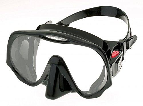 Atomic Aquatics Frameless Mask for Scuba Diving and Snorkeling - Medium Black