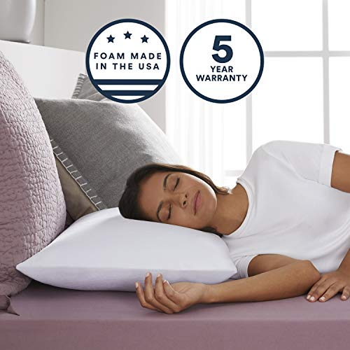 Sleep Innovations Classic Memory Foam Pillow, Standard, Made in the...