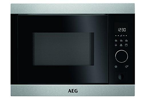 AEG MBB1755D-M Mikrowelle / Einbau Mikrowellengerät mit Automatikprogrammen & Berührungssensor / Mikrowelle mit Grill & 17 l Backraum / max. 800 Watt mit 5 Stufen / Edelstahl / silber & schwarz