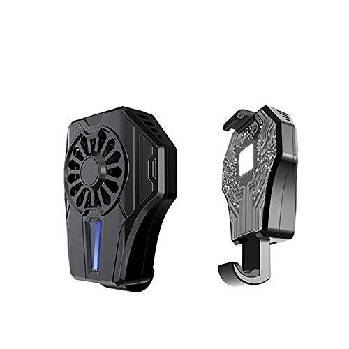 BIOBEY Handy-Kühler, Halbleiter-Gefrierkühlung Handy-Kühler Universal-Handy-USB-Akku Kühler Lüfter Spielkissenhalter Ständer Bank Radiator Mute Fan