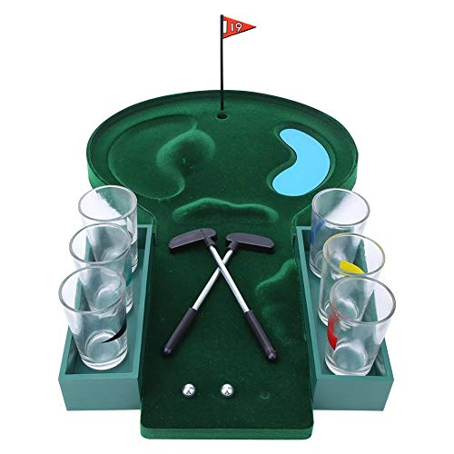 Qkiss Mini Tafelblad Golfspel Set Golfspel, Entertainment Tafelblad Pooltafel Golf voor feestdrank Biergame