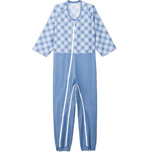ケアファッション 介護用フルオープンつなぎパジャマ ピンク LL 38728-13