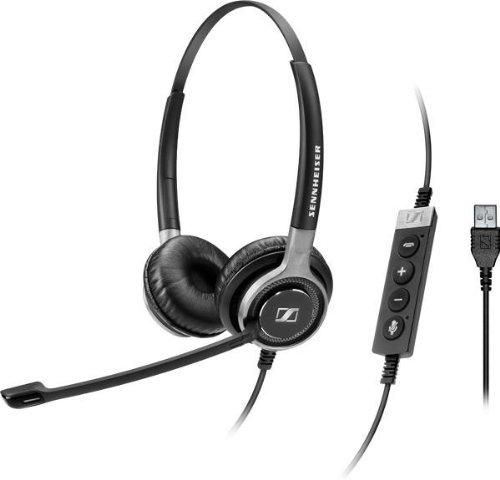Sennheiser SC 660 USB ML Stereofonico Padiglione auricolare Nero, Argento cuffia e auricolare