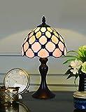 8 pulgadas de la vendimia europea grano pastoral hecho a mano vidrieras lámpara de mesa lámpara de escritorio dormitorio lámpara