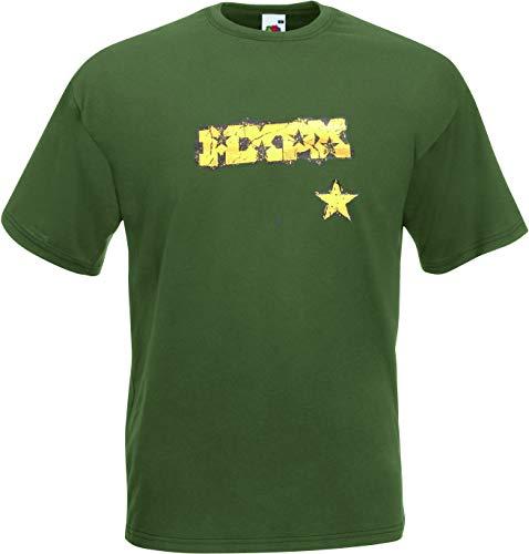 MXPX Panic Star T-Shirt, Olive, Gr.s