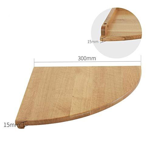 QSAA drijvende planken muur wandplanken muur gemonteerde wandplanken Set drijvende plank Word partitie massief hout hoek plank eiken bovenste hoek Fan-Shaped slaapkamer opslag decoratieve muur plank