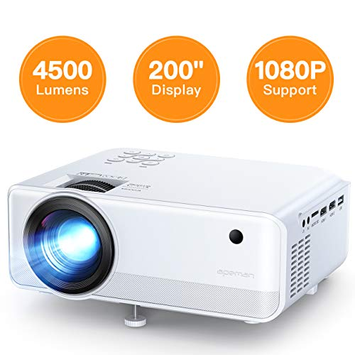 Mini Projector, APEMAN 4500 Lumen 1080P Supported Projector, 200
