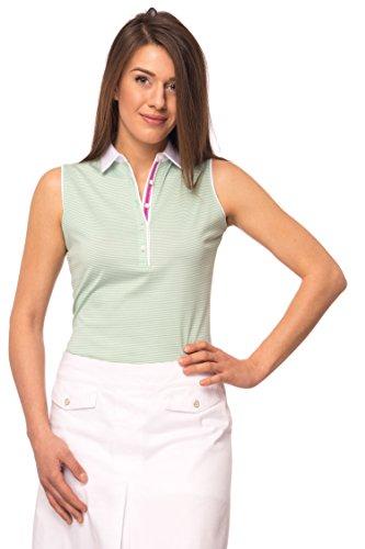 JELFY Evelina/D Poloshirt für Damen, ohne Ärmel, 100% Baumwolle S Midori