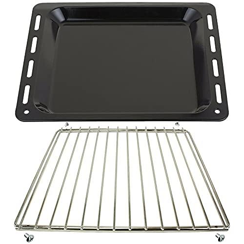 SPARES2GO Bandeja para hornear + estante ajustable con brazo de bloqueo compatible con cocina de horno Whirlpool