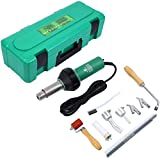 MuGuang 1600W Plastic Welder Welding Hot Air Gun with Speed Nozzles Roller Pe PVC Plastic Rod UK Plug with Carry Box