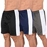 YoungLA Mens Shorts Pack of 3 Athletic Basketball Gym Workout Running 116#3 L