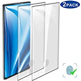 2-Pack HD Galaxy Note 10 Screen Protector, Tempered Glass [3D...