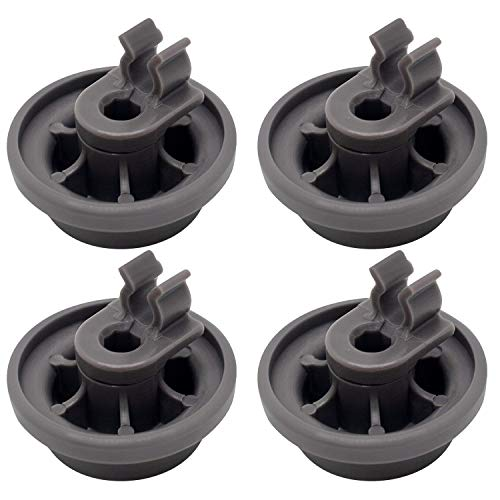 Funmit 4581DD3003B Dishwasher Dishrack Roller Assembly with Mounting Clip Replacement for LG Models