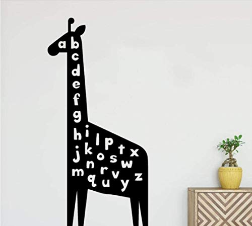 Cranky Orange - Adhesivo decorativo para pared (28 x 58 cm), diseño de jirafa
