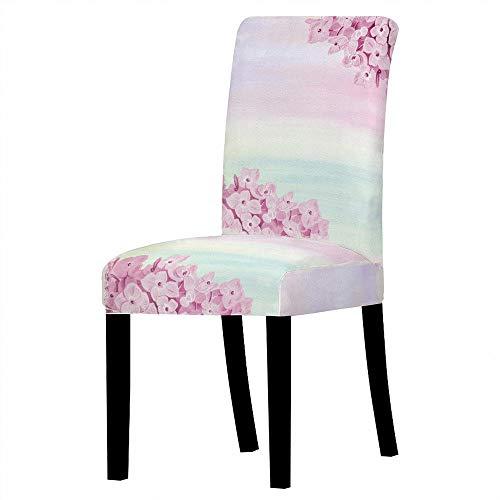 SKYROPNG Universal Dining Chair Schonbezüge - Stretch-Schutzsitz - Pink Flower - Abnehmbare Armlose Sitzbezüge Für Restaurant Bankett Hotel Home Decoration, 4, Stck